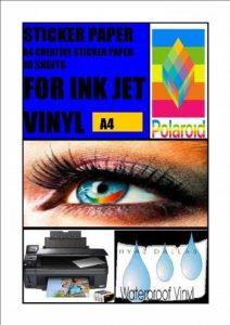 10Blanc brillant A4Stickers Autocollant de qualité photo jet d'encre Enduit de vinyle de la marque APL CHEMICALS image 0 produit