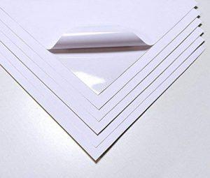 10Feuilles Blanc de qualité étanche Autocollant en vinyle Mat Autocollant A4Laser imprimable de la marque EVG image 0 produit