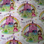 10feuilles de papier cadeau pour enfant–pirates, Princesse, ballerine, cupcakes, gâteaux, grues, pelles, les sirènes (2feuilles de chaque 5Designs) de la marque VARIED image 2 produit