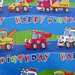 10feuilles de papier cadeau pour enfant–pirates, Princesse, ballerine, cupcakes, gâteaux, grues, pelles, les sirènes (2feuilles de chaque 5Designs) de la marque VARIED image 4 produit