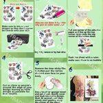 10 Feuilles DIY A4 papier de transfert Tatouage Temporaire imprimable personnalisé pour imprimante à jet d'encre de la marque Rolurs image 2 produit