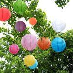 10packs lampions Gofriend coloré chinois Lanterne ronde Balloon Décorations à suspendre avec arc-en-ciel Couleurs et tailles assorties pour anniversaire Mariage Baby Shower Décoration intérieure plafond fête de la marque GoFriend image 4 produit