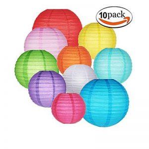 10packs lampions Gofriend coloré chinois Lanterne ronde Balloon Décorations à suspendre avec arc-en-ciel Couleurs et tailles assorties pour anniversaire Mariage Baby Shower Décoration intérieure plafond fête de la marque GoFriend image 0 produit