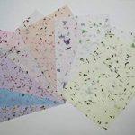 10Papier mûrier Taille Feuille A4Motif Craft fabriqué à la main Art Soie Japon Origami Washi Wholesale Bulk vente Unryu Elle Thaïlande Products Fabrication de cartes de la marque MulberryPaperStock image 4 produit