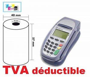 10 rouleaux, bobines cartes bancaire, papier thermique 57 x 40 x 12 mm pour terminal de paiement, calculatrice adapté pour ingenico et verifone de la marque UNIVERS GRAPHIQUE image 0 produit