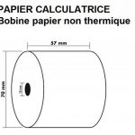 10 Rouleaux de recharge pour calculatrices et caisses enregistreuses à impression NON THERMIQUE papier 1 feuile électrique bobine Blanc 57 x 70 x 12 mm Bobine Comptable 57x70 Afn7 60g de la marque UNIVERS GRAPHIQUE image 2 produit