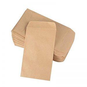(10 x 6cm) 100pcs Pochette Sac Sachet en Kraft Papier Vintage Mini Enveloppe pour Semences ou Bonbons de la marque DEOMOR image 0 produit