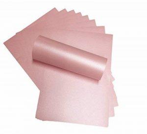 10x A4Rose Pétales Voyageuse Majestic nacré Shimmer papier 120g/m² convient pour les imprimantes jet d'encre et laser de la marque Syntego image 0 produit