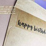 100A7enveloppes en papier kraft brun et tant que Half-fold carte de voeux papier–13,3x 18,4cm carré Rabat enveloppes–12,7x 17,8cm carte de voeux papier de la marque Best Paper Greetings image 1 produit