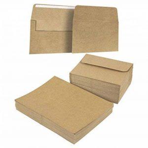 100A7enveloppes en papier kraft brun et tant que Half-fold carte de voeux papier–13,3x 18,4cm carré Rabat enveloppes–12,7x 17,8cm carte de voeux papier de la marque Best Paper Greetings image 0 produit