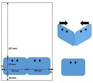 100 badges - Feuille avec badge PLASTIFIE pour imprimante laser- Lettre avec badge- badge de séminaire- badge de réunion- badge salon de la marque UNIVERS GRAPHIQUE image 0 produit