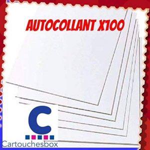 100 feuilles A4 papier adhésif blanc; Étiquettes 210x297mm - autocollant de la marque cartouchesbox image 0 produit