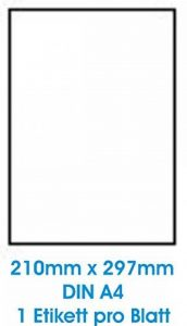 100 feuilles A4 papier adhésif blanc; Utilisé pour toutes les imprimantes jet d'encre! de la marque Print4Life image 0 produit