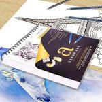 100feuilles de dessin–Bloc de dessin–croquis pour l'art–reliure spirale–22,9x 30,5cm–44,5kilogram–160g/m²–esquisse–Aquarelle–acryliques–Ordinateur portable–Papier de haute qualité de la marque Clear Art Products image 4 produit