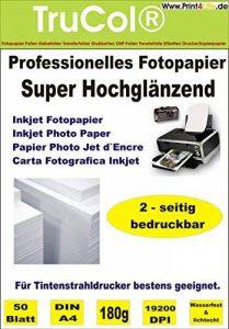 100 feuilles de format A4 Super High Glossy double face papier photo 180g /m²; Ce papier brillant professionnel avec surface lisse des deux côtés brillant créer rapidement des illustrations, des brochures, des images et l'impression de photos, des présent image 0 produit