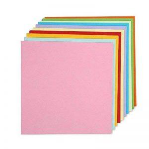 100feuilles de papier double face colorée Grue pliante Origami papier 15cm par 15cm, 10couleurs de la marque lansue image 0 produit