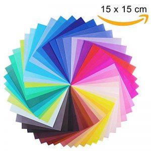 100 feuilles de papier pour origami Opret - 15 x 15 cm - 50 couleurs vives sur une face - Pour origami et travaux manuels de la marque Opret image 0 produit