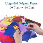 100 feuilles de papier pour origami Opret - 15 x 15 cm - 50 couleurs vives sur une face - Pour origami et travaux manuels de la marque Opret image 2 produit