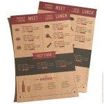 100 feuilles papier kraft - Papier Kraft DIN A4 280 g/m² Nature Carton de grande qualité Idéal pour travaux manuels, 3D Marron de la marque Partycards image 4 produit