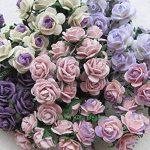 100pcs Mini Rose mixte Violet Couleur papier mûrier Fleur 10–15mm scrapbooking carte de mariage Fournitures de maison de poupée, par Amata Kufu élégant de la marque Amata Kufu Mulberry Paper Flowers image 2 produit