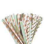 100 Pièces Papier de Paill pour Anniversaire, Mariage, Noël, Douche de Bébé, Célébration et Fête (Or, Vert et Orange) de la marque eBoot image 1 produit