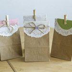 100 sacs en papier marron, sac en papier de 9 x 16 x 5 cm - 70 g/m² sacs en papier pour pain, Calendriers de l'Avent, emballage de pain, de biscuits, de boulangerie, de pâtisserie, de bonbons et noix de la marque KGpack image 2 produit