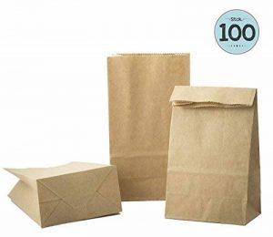 100 sacs en papier marron, sac en papier de 9 x 16 x 5 cm - 70 g/m² sacs en papier pour pain, Calendriers de l'Avent, emballage de pain, de biscuits, de boulangerie, de pâtisserie, de bonbons et noix de la marque KGpack image 0 produit