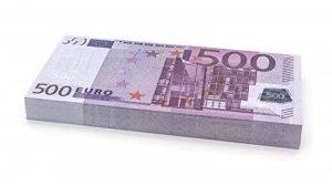 100 x €500 EURO Cashbricks® billets d'argent fictif (diminués jusqu'à 75% de la taille originale) de la marque Cashbricks® image 0 produit