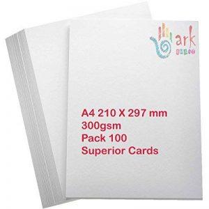 100x A4Premium Blanc épais imprimante Craft carte 300g/m² par Ark de la marque Ark image 0 produit