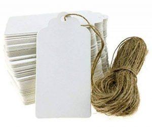 100pcs Papier Kraft Blanc Étiquettes de Prix Soirée Mariage Étiquette Cartes-cadeaux de la marque Micro Trader image 0 produit