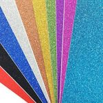10pcs A4 feuilles Paillettes Craft autocollant vinyle Art Sticker Sparkling Panneau en couleur métallique DIY Cadeau couleurs mélangées de la marque SuperHandwerk image 3 produit