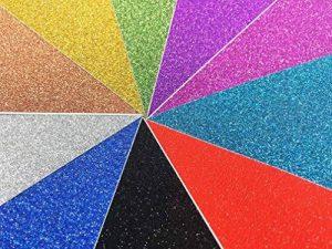 10pcs A4 feuilles Paillettes Craft autocollant vinyle Art Sticker Sparkling Panneau en couleur métallique DIY Cadeau couleurs mélangées de la marque SuperHandwerk image 0 produit
