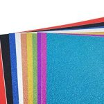 10pcs A4 feuilles Paillettes Craft autocollant vinyle Art Sticker Sparkling Panneau en couleur métallique DIY Cadeau couleurs mélangées de la marque SuperHandwerk image 2 produit