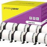10x DK-22205 62 mm x 30.48 m Compatibles Étiquettes continues pour Brother P-Touch QL-1050, QL-1050N, QL-1060N, QL-500, QL-500A, QL-500BS, QL-500BW, QL-550, QL-560, QL-560VP, QL-560YX, QL-570, QL-580, QL-580N, QL-650TD, QL-700, QL-710W, QL-720NW Etiqueteu image 1 produit