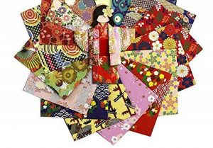12.8x12.8 cm Papiers origami pliants style japonais pour enfants et adultes 144 pièces de la marque Black Temptation image 0 produit
