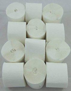 12 Blanc Serpentins de papier crepon de qualite 45mm x 10metres. 14 Couleurs Vives de la marque Clikkabox image 0 produit