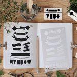 12 Pcs Bullet Ensemble Pochoir Wanxida Plastique Modèle de Dessin Planner Stencil pour Journal Ordinateur Portable Agenda Scrapbooking DIY et Projets Artistiques de la marque Wanxida image 2 produit