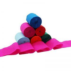 12 rouleaux de flocons en papier de crêpes de 6 couleurs pour diverses fêtes d'anniversaire Festival de mariage Décorations de fête, 1,77 pouces x 29,6 pieds de la marque Yafine image 0 produit