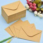 120 Pièces Mini Enveloppes Kraft Enveloppes de Cartes-Cadeaux Enveloppes de Carte de Visite de Mariage Petites Enveloppes Classique Rabat, 4,4 x 3 Pouces de la marque Sumind image 3 produit