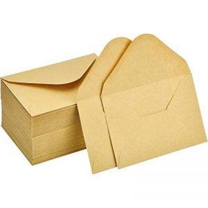 120 Pièces Mini Enveloppes Kraft Enveloppes de Cartes-Cadeaux Enveloppes de Carte de Visite de Mariage Petites Enveloppes Classique Rabat, 4,4 x 3 Pouces de la marque Sumind image 0 produit