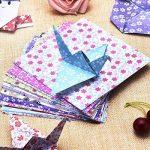 144 Feuilles Papier Origami Origami Kit 6 Par 6 Pouces, 12 Couleurs Et Motifs Différents de la marque eBoot image 5 produit