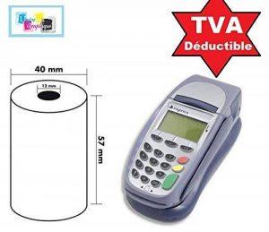 15 Bobine rouleaux 57 mm x 40 mm 57 x 40 de Papier Thermique pour Caisse carte bancaire , tpe, terminal de paiement Ticket Rouleaux de la marque UNIVERS GRAPHIQUE image 0 produit