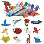 (15 X 15CM) 300 Feuilles Papier Origami Carré en 10 Couleurs Mixtes Papier Traditionnel Japonais à Plier Double Face pour Scrapbooking DIY Enfant et Adulte de la marque DEOMOR image 3 produit