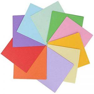 (15 X 15CM) 300 Feuilles Papier Origami Carré en 10 Couleurs Mixtes Papier Traditionnel Japonais à Plier Double Face pour Scrapbooking DIY Enfant et Adulte de la marque DEOMOR image 0 produit