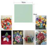 (15 X 15CM) 300 Feuilles Papier Origami Carré en 10 Couleurs Mixtes Papier Traditionnel Japonais à Plier Double Face pour Scrapbooking DIY Enfant et Adulte de la marque DEOMOR image 1 produit