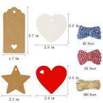 150 pcs Kraft Papier Étiquettes De Cadeau Papier Couper Étiquettes Suspendues en 4 Styles avec des Cordes Parfait pour DIY Arts et Métiers de la marque vamai image 2 produit