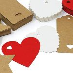 150 pcs Kraft Papier Étiquettes De Cadeau Papier Couper Étiquettes Suspendues en 4 Styles avec des Cordes Parfait pour DIY Arts et Métiers de la marque vamai image 3 produit
