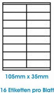 1600 Stk. étiquettes étiquette adhésive de l'étiquette d'adresse Format 105.0x35.0mm , 100 feuilles DIN A4, 70g/qm, approprié pour les imprimantes à jet d'encre, imprimantes laser et photocopieurs. de la marque Print4Life image 0 produit