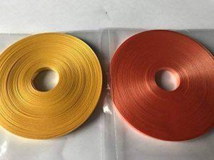 2 x 20 Mètres Ruban Frisé Bobines (Orange Et Jaune) Papier Cadeau / Décoration / Panier / Ballons de la marque Gem image 0 produit