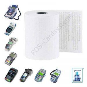 20 EC-papier cartonné cash 57 mm x 12 m x 12 mm pour appareil-eC ingenico iCT avec lastschrifttext eLV 220 de la marque POS-Cardsysteme image 0 produit